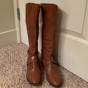 Nine West Tall Brown Leather Boots